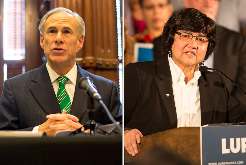 Gov. Greg Abbott and Democratic challenger Lupe Valdez.