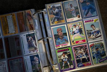 The Turner family made a hobby of sending baseball cards and letters to former players to sign and respond to during the pandemic. June 23, 2021.