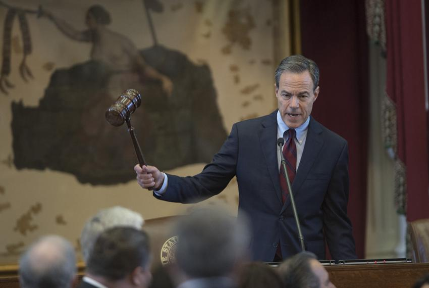 Speaker Joe Straus, R-San Antonio, wields the gavel during the House session on April 5, 2017.  The House is conducting busi…