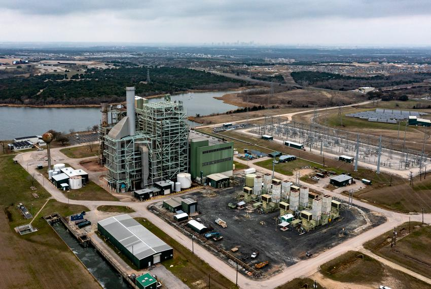 The Decker Creek Power Station, a natural gas power plant northeast of Austin on February 28, 2021.