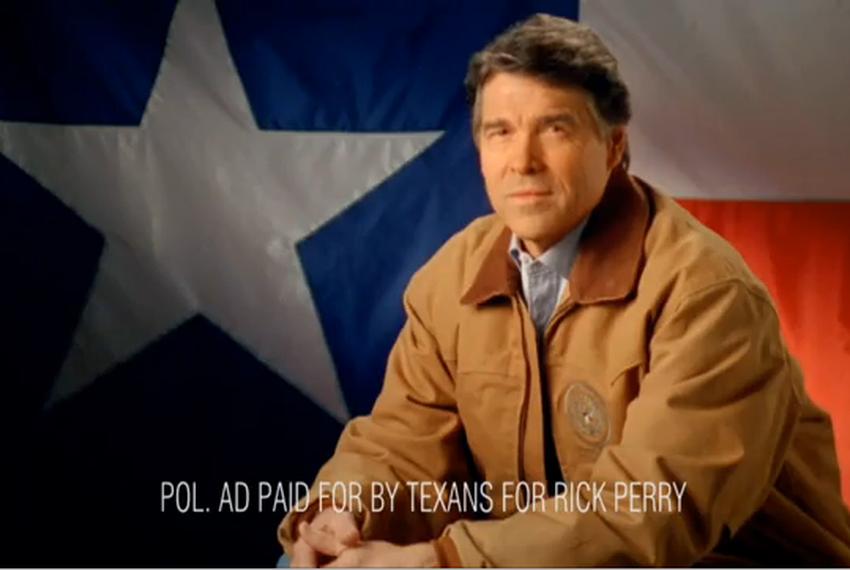 """Screenshot of Rick Perry's """"Tenth Amendment."""""""