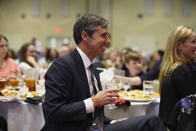 Former U.S. Rep. Beto O'Rourke at the El Pasoan of the Year ceremony in El Paso on Feb. 19, 2019.