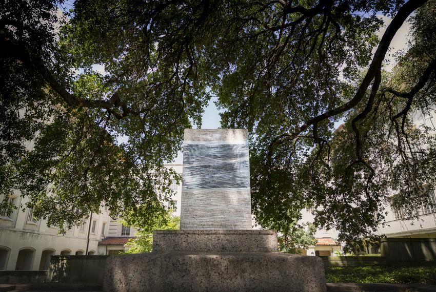 Confederate statues on the University of Texas at Austin were removed shortly after midnight on Aug. 21, 2017.