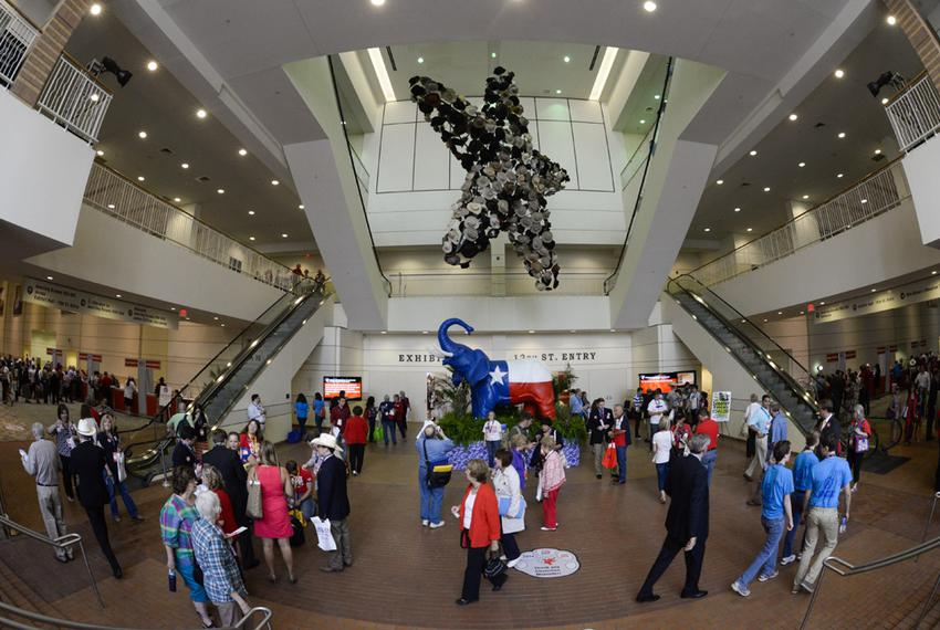 The atrium of the Fort Worth Convention Center, site of the Texas Republican Convention on June 5, 2014.