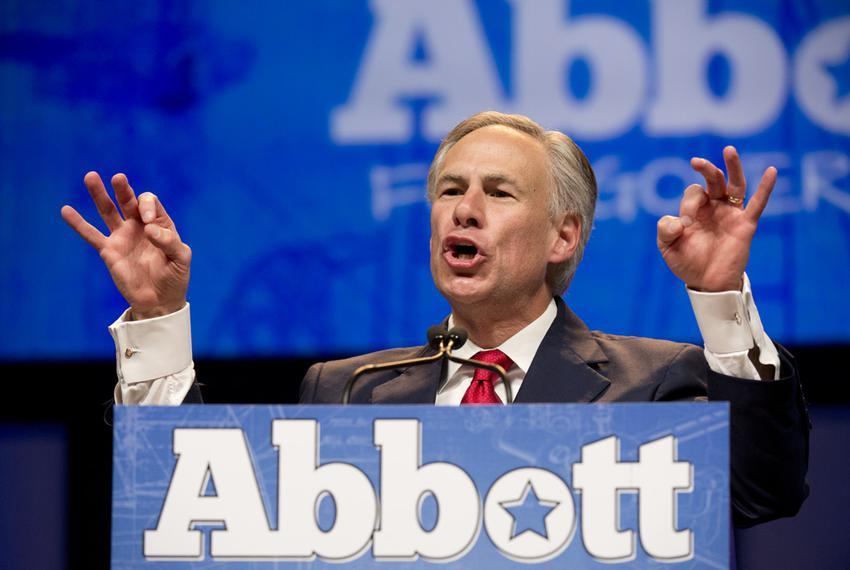 Governor candidate Greg Abbott at the Republican Convention in Fort Worth June 6, 2014.