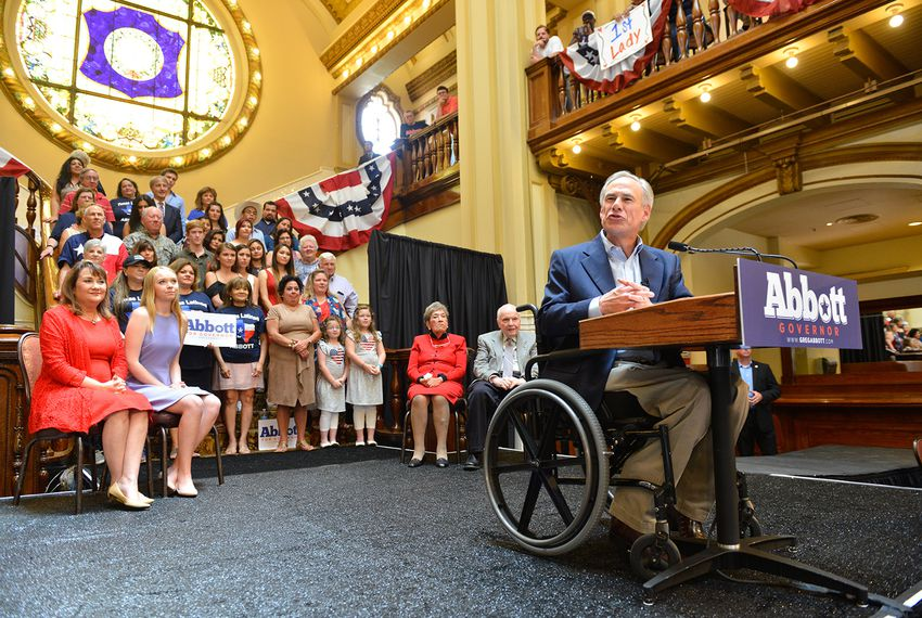 Gov. Abbott announces he's running for reelection, on July 14, 2017.