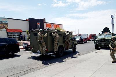 Law enforcement officers descended on a Walmart in El Paso during the shooting.