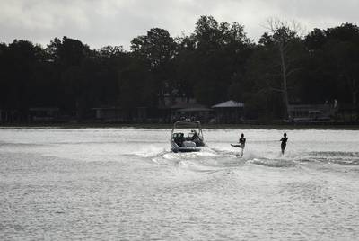 Water skiers are a common sight on Lake McQueeney near Seguin.
