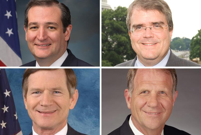 Clockwise from top left: U.S. Sen. Ted Cruz, R-Texas, and U.S. Reps. John Culberson, R-Houston, Ted Poe, R-Humble and Lama...