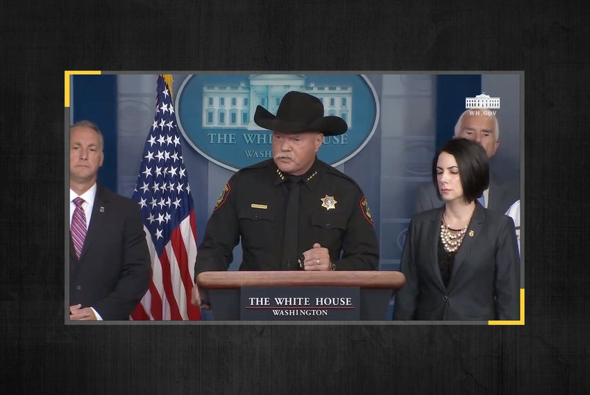 Tarrant Co. Sheriff Bill E. Waybourn speaking at the White House on Oct. 10, 2019.
