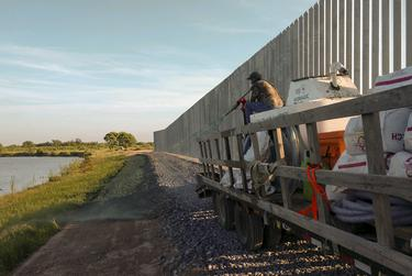 Fisher Industries has installed a 10-foot-wide road made with rocks to help address erosion issues while allowing access by Border Patrol agents.