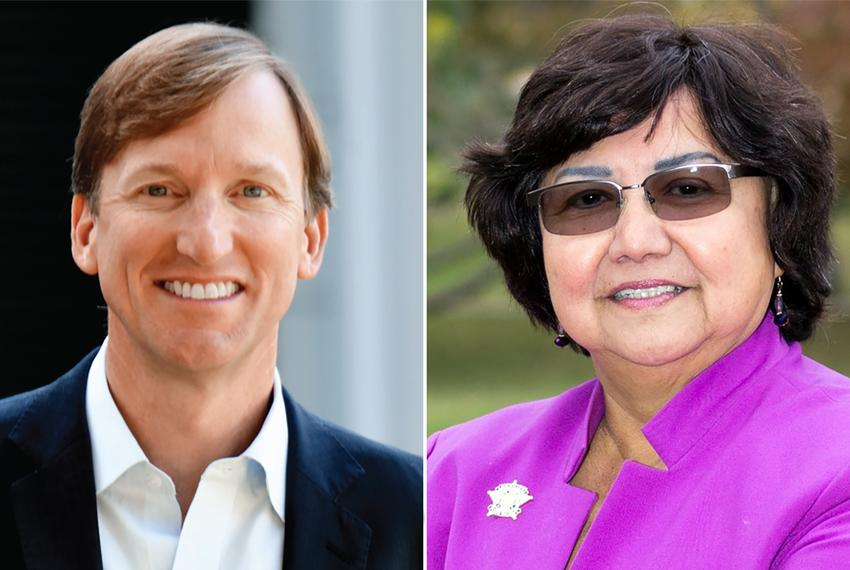 Democratic candidates for governor Andrew White and Lupe Valdez.