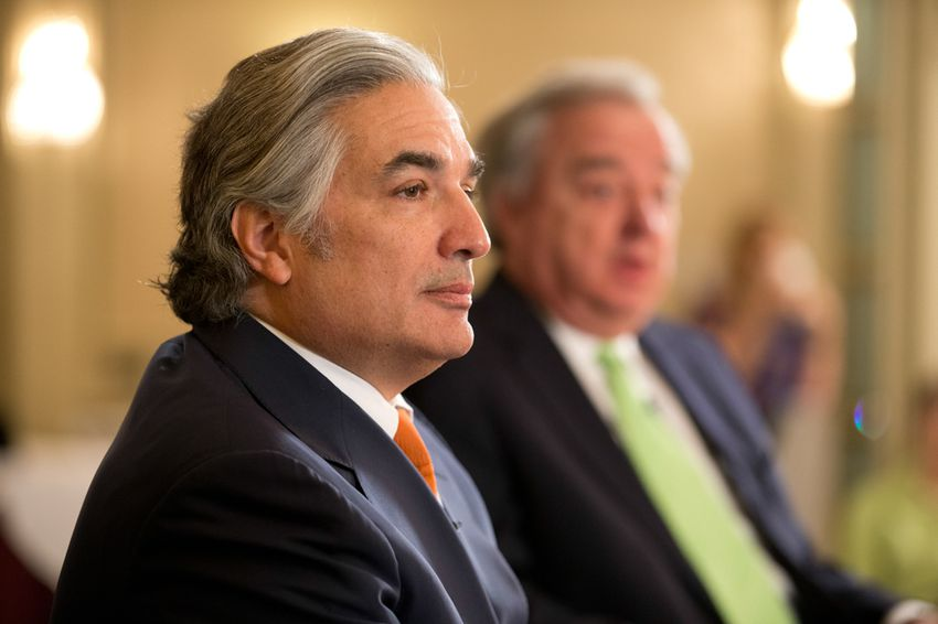 Flagship university chancellor Dr. Francisco Cigarroa interviewed by editor Evan Smith at TribLive on March 28, 2013.