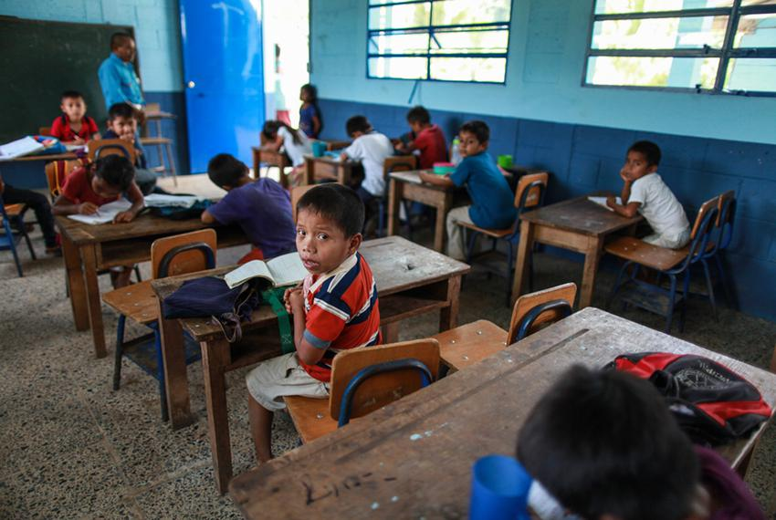 Byron Xol's school in San Miguel Limón. Byron is currently in a shelter in Baytown, where he turned 8 on June 24.