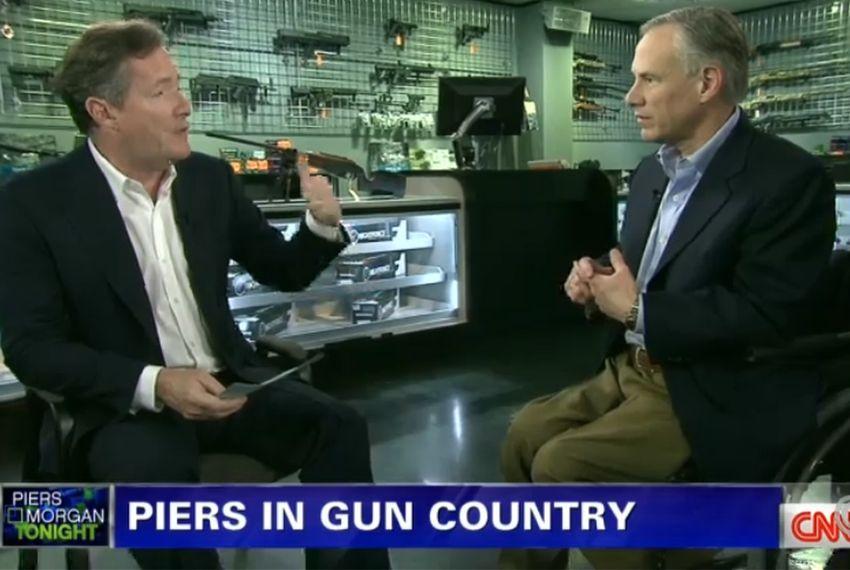 Greg Abbott talks guns with Piers Morgan