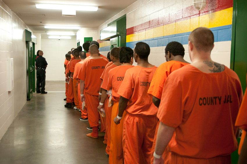 Inmates in the Harris County Jail in 2011.