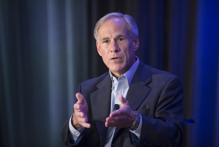Gov. Greg Abbott speaks at the Resurgent Gathering of conservative party activists in Austin on August 3, 2018.
