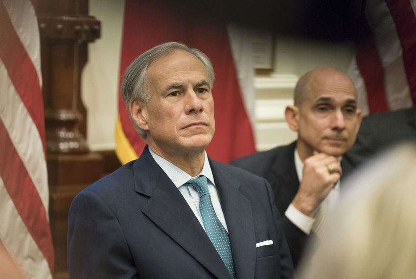 Texas Governor Greg Abbott convenes the third of three roundtable discussions on school safety and student mental health issues, at the Capitol in Austin on May 24, 2018.