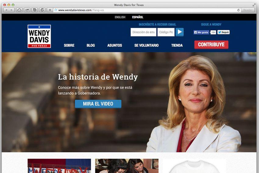 Davis Launches Spanish-Language Website | The Texas Tribune