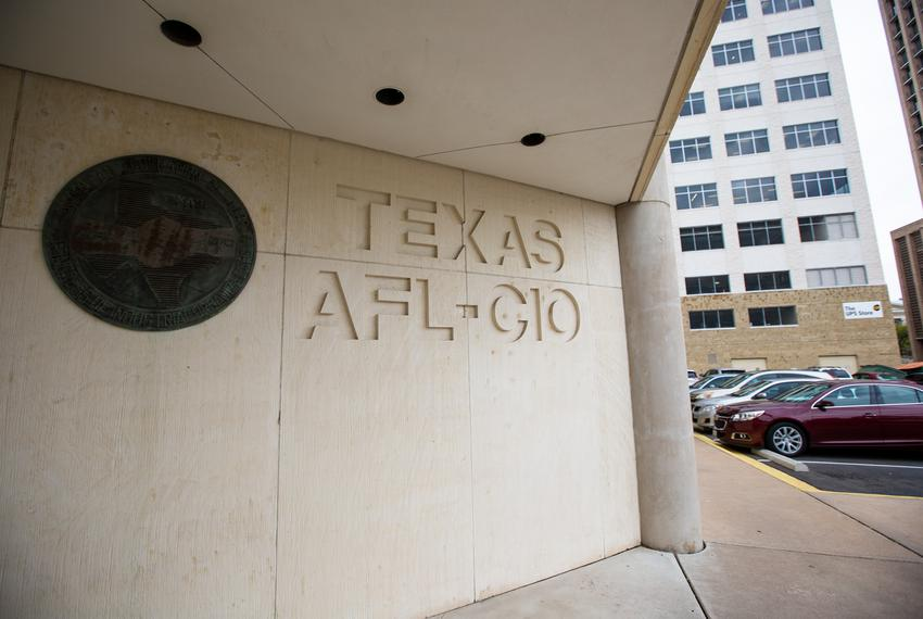The headquarters of Texas AFL-CIO in downtown Austin.
