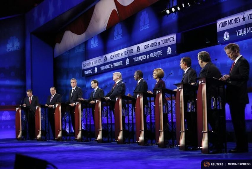 The Republican presidential debate in Boulder, Colorado, on Oct. 28, 2015.