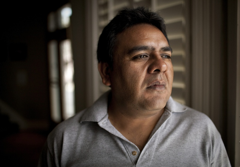 Pictured on April 7, 2012 in El Paso, Texas is Saul Reyes Salazar, a former community activist in the Juarez Valley, who was granted political asylum on January 09, 2012. Salazar has lost six family members in the drug war.