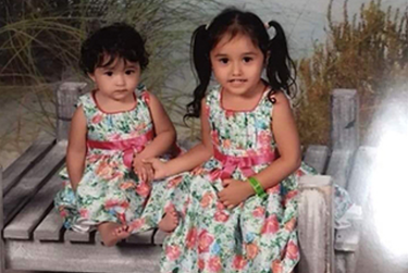 Delaney Tercero (right) was killed in a pipeline explosion. Her sister, Delayza, was seriously injured.