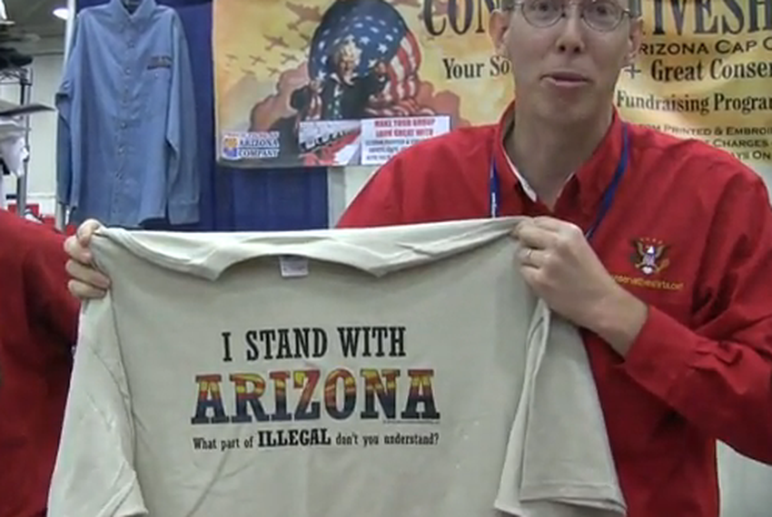 June 12, 2010. Bestselling t-shirts at the Texas GOP convention.