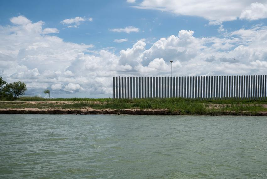 The privately funded border wall as seen on June 19, 2020 in Mission, Texas.