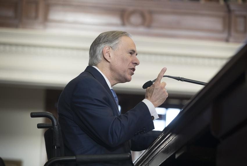 Gov. Greg Abbott speaks to the House on the opening Day of the 85th legislative session, Jan. 10, 2017.