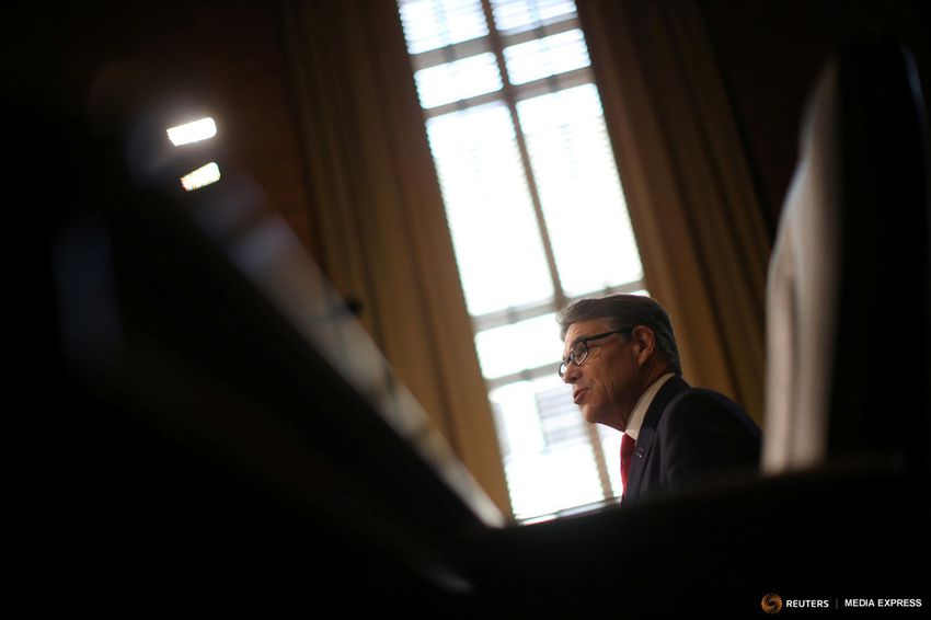 Former Texas Governor Rick Perry testifies before a Senate Energy and Natural Resources Committee hearing on his nomination to be Energy secretary at Capitol Hill in Washington, D.C. on January 19, 2017.