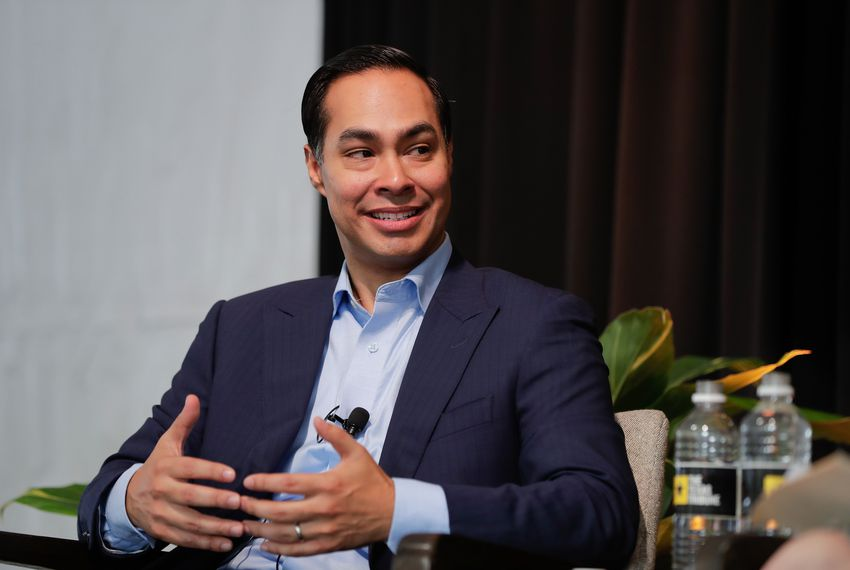 Former U.S. Secretary of Housing and Urban Development Julián Castro speaks at The Texas Tribune Festival on Sept. 29, 2018.