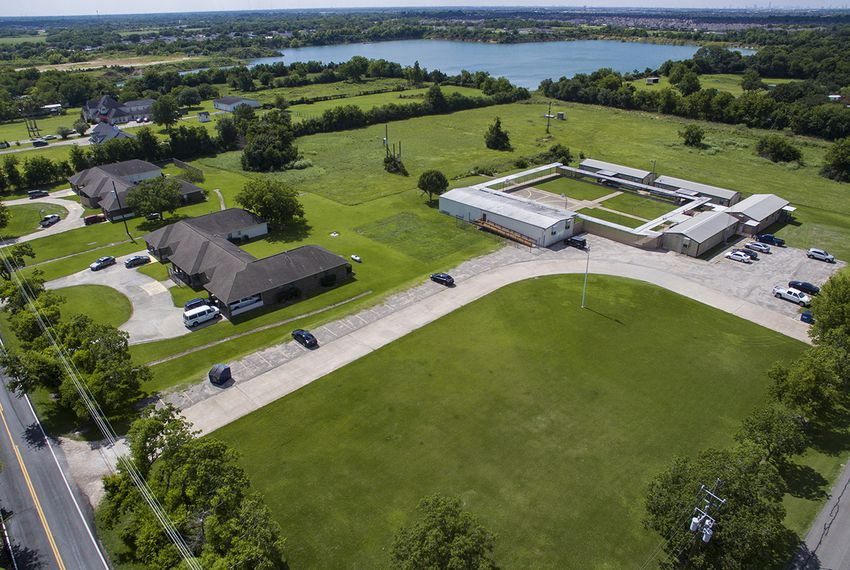 Shiloh Treatment Center, shown in an aerial photograph, is near Manvel, Texas, south of