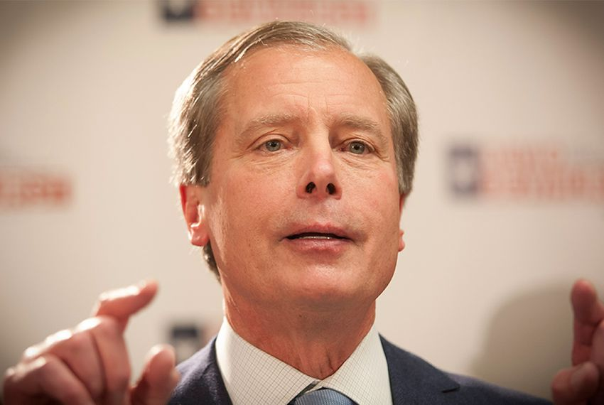 Lt Governor David Dewhurst speaks to supporters in Houston, Tuesday March 4, 2014 after it became clear he would head into a runoff.
