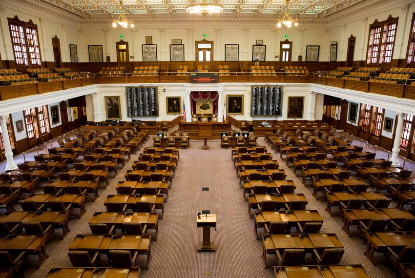 The House chamber at the Texas Capitol on Aug. 16, 2017, the morning after the end of the special session.