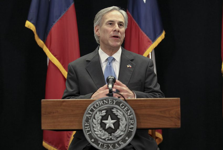 Greg Abbott, then the state's attorney general, discusses Texas' lawsuit against federal health care reform on Jan. 31, 2011.