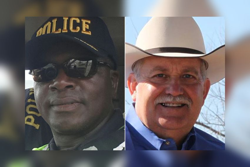 Cedric Watson, left, is running for sheriff of Waller Co. against incumbent Glenn Smith.