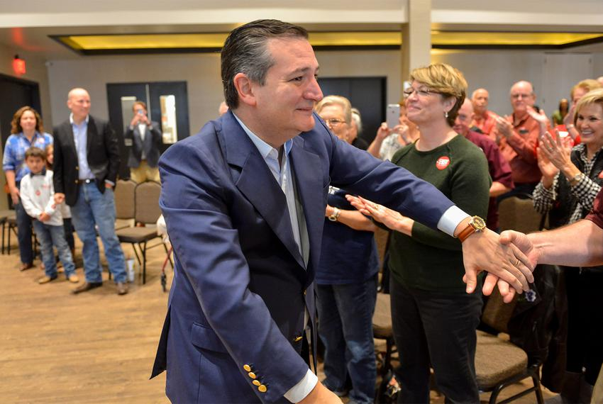 U.S. Sen. Ted Cruz at a campaign event for congressional candidate Chip Roy in New Braunfels on Saturday, Feb. 10. 2018.