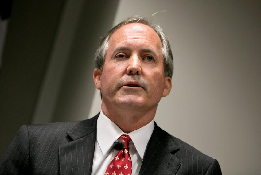 Texas Attorney General Ken Paxton during a press conference on January 12, 2017.