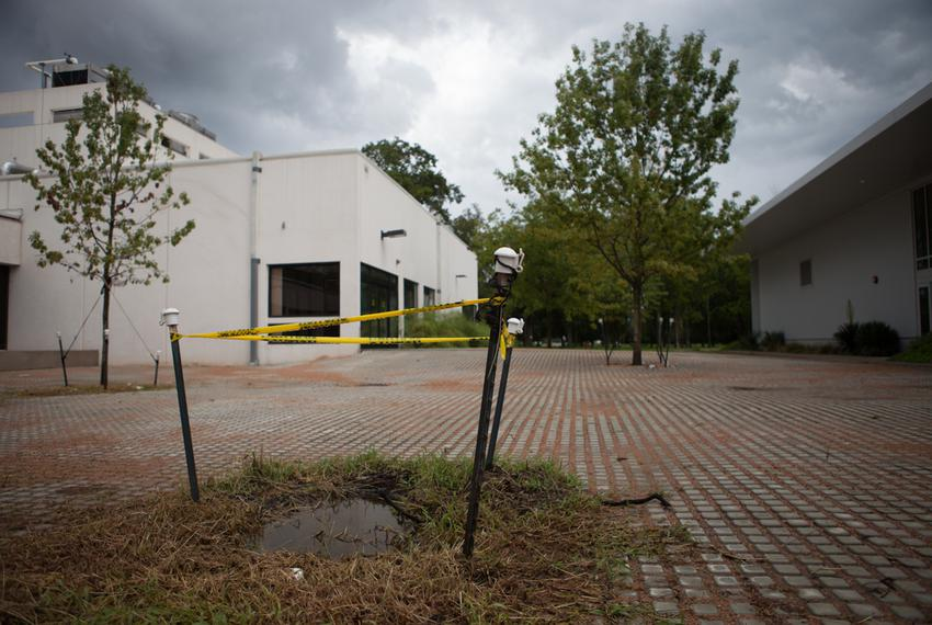 Repairs underway on the Clear Lake campus of the University of Houston, Aug. 11, 2013.
