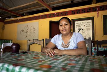 Marixa Garcia Ramos is a server at a restaurant in La Tecnica, Guatemala on Nov. 17, 2019.