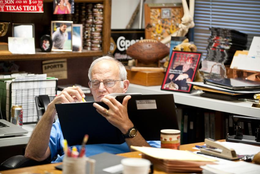 November 9th 2010: Attorney Dicky Grigg at his Austin, Texas office.