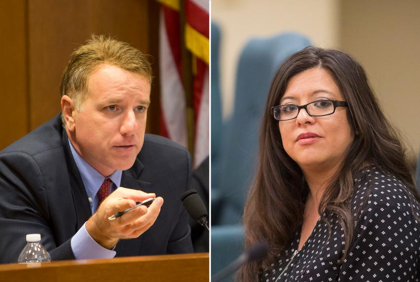 State Reps. Pat Fallon, R-Prosper, and Mary González, D-Clint.