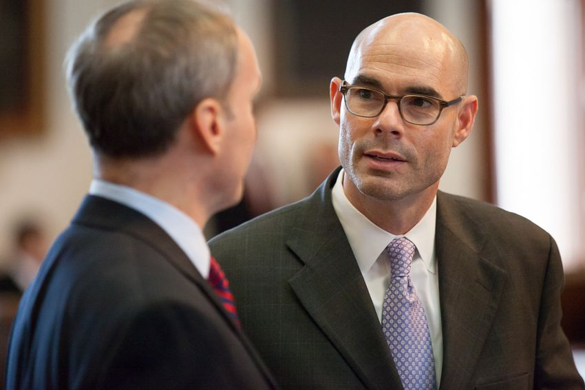State Rep. Dennis Bonnen, R-Angleton, on the House floor on May 13, 2015.