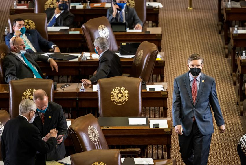 Lawmakers on the House floor on March 30, 2021. The Texas Legislature lacks diversity as 73% of lawmakers in both chambers a…