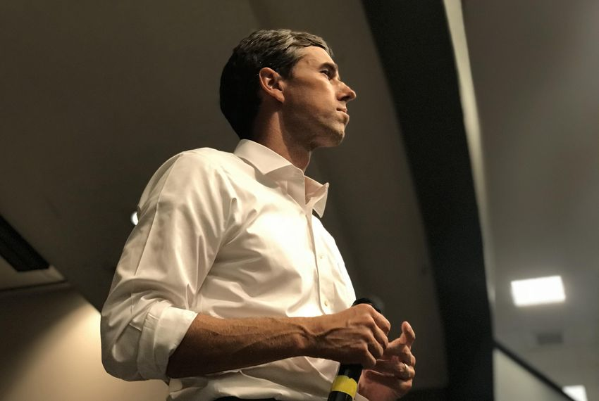U.S. Rep. Beto O'Rourke, D-El Paso, speaks to college students at a town hall event in San Marcos on Sept. 9, 2018.