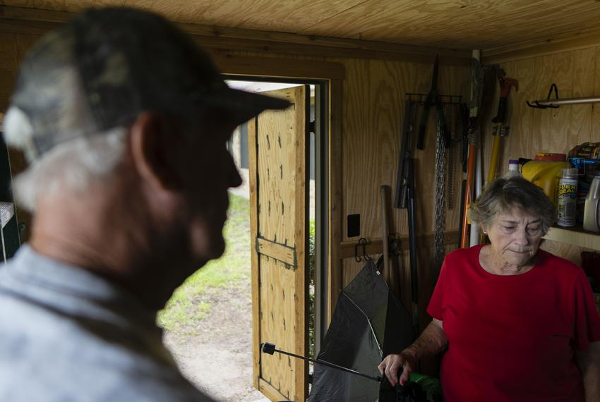 From left, Ronnie McKee, 75, and his wife Nancy McKee, 74, at their home in Lee County on July 12, 2021. The McKees are two …