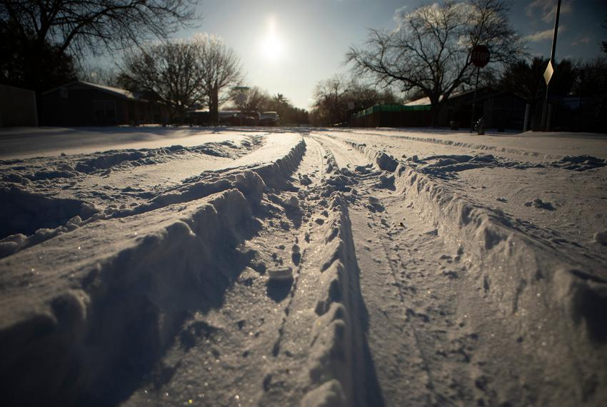 South Austin after a severe snow storm that dropped temperatures into the single digits. Feb. 15, 2021.