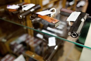 Guns at McBride's Guns in Austin on March 26, 2013.