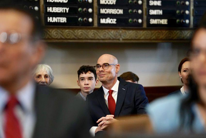 Texas House Speaker Dennis Bonnen in the House Chamber on Tuesday, Jan. 8, 2019.